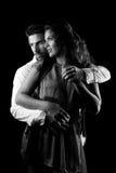 Amantes abraçados Imagem de Stock