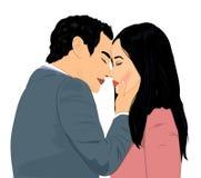 Amantes aproximadamente a beijar Imagem de Stock Royalty Free