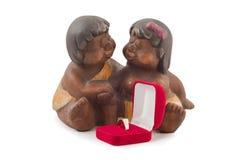 Amantes con un anillo Foto de archivo