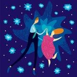Amantes da dança Fotografia de Stock Royalty Free