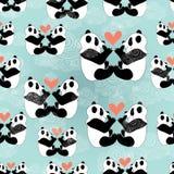 Amantes da panda da textura ilustração stock