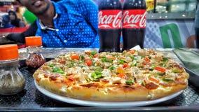 Amantes da pizza Imagens de Stock Royalty Free