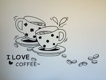 Amantes de Coffe Imagen de archivo libre de regalías