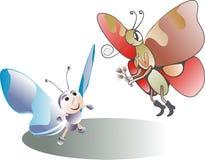 Amantes de la mariposa Foto de archivo libre de regalías