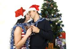 Amantes de la Navidad Imagen de archivo