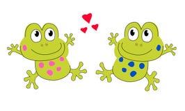 Amantes de la rana ilustración del vector