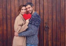 14 amantes de la tarjeta del día de San Valentín Fotografía de archivo libre de regalías