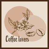 Amantes del caf? ilustración del vector
