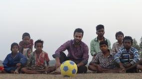 Amantes del fútbol Fotografía de archivo libre de regalías