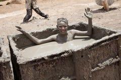 Amantes del fango del mar muerto Fotografía de archivo libre de regalías