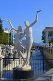 Amantes del monumento Marmaris Turquía Foto de archivo