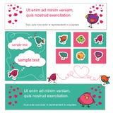 Amantes del pájaro el día de la tarjeta del día de San Valentín s Foto de archivo