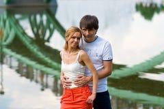 Amantes del puente Foto de archivo