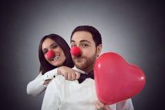 Amantes divertidos Imagen de archivo