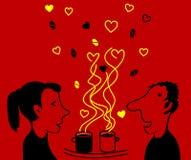Amantes do café Imagens de Stock