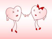 Amantes do coração Fotografia de Stock