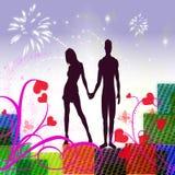Amantes em conjunto Ilustração do Vetor