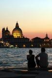 Amantes em Veneza Fotos de Stock