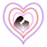 Amantes en corazón Imagen de archivo
