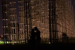Amantes en la noche foto de archivo libre de regalías