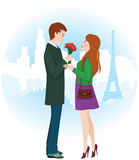 Amantes en París Fotos de archivo