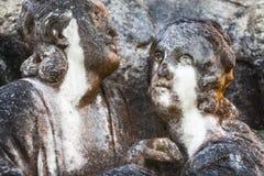 Amantes en piedra en Escocia Imagenes de archivo