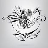 Amantes en una flor. ejemplo del vector Fotos de archivo libres de regalías