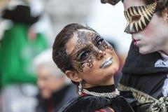 Amantes en Venecia - el carnaval 2014 de Venecia imagen de archivo libre de regalías