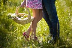 Amantes en verano Foto de archivo libre de regalías
