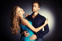 Amantes expressivos Fotos de Stock Royalty Free