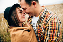 Amantes felices fotografía de archivo libre de regalías