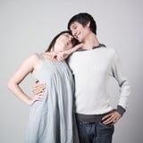Amantes felizes Imagens de Stock