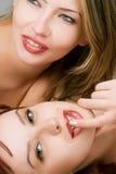Amantes femeninos sensuales Foto de archivo libre de regalías