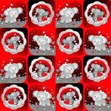 Amantes 3, fondo inconsútil del elefante de la tarjeta del día de San Valentín del modelo Fotos de archivo libres de regalías