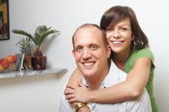 Amantes @ home Foto de Stock