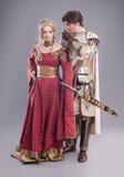 Amantes medievales Foto de archivo libre de regalías