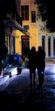 Amantes na noite Imagens de Stock Royalty Free
