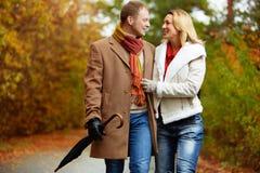 Amantes no parque Foto de Stock
