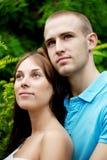 Amantes no parque em uma tâmara Imagem de Stock Royalty Free