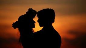 Amantes no por do sol video estoque