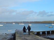 Amantes no porto Foto de Stock Royalty Free