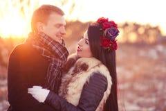 Amantes que olham em se Fotos de Stock