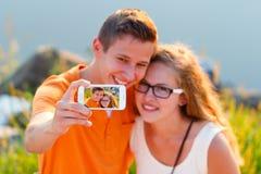 Amantes Selfie Imagenes de archivo