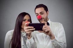 Amantes Selfie Foto de archivo libre de regalías
