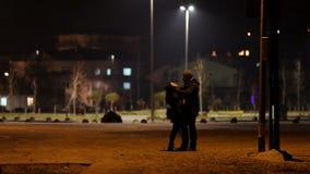 amanti alla notte stock footage