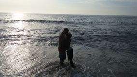 Amanti alla spiaggia Fotografia Stock