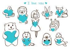Amanti blu Immagine Stock