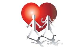 Amanti da documento con cuore royalty illustrazione gratis