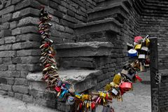 Amanti degli armadi in ponte di Castelvecchio Immagini Stock