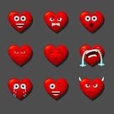 Amanti dei cuori del cuore Fotografia Stock